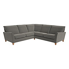 Debenhams - Natural grain leather 'Abbeville' corner sofa