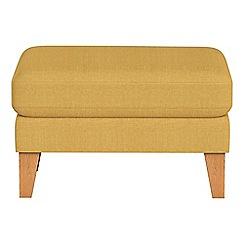 Debenhams - Tweedy weave 'Carnaby' footstool
