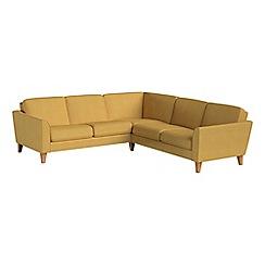 Debenhams - Tweedy weave 'Carnaby' corner sofa