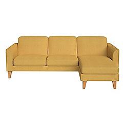 Debenhams - Tweedy weave 'Carnaby' right-hand facing chaise corner sofa