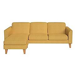 Debenhams - Tweedy weave 'Carnaby' left-hand facing chaise corner sofa