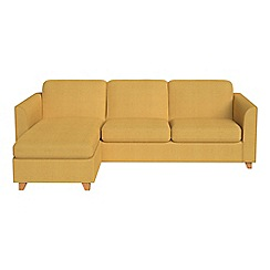 Debenhams - Tweedy weave 'Carnaby' left-hand facing chaise corner sofa bed