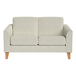 Debenhams - Compact brushed cotton 'Carnaby' sofa