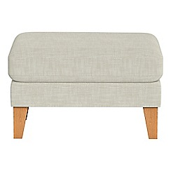 Debenhams - Brushed cotton 'Carnaby' footstool