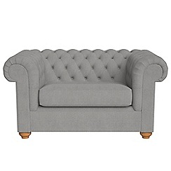 Debenhams - Tweedy weave 'Chesterfield' loveseat