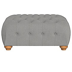 Debenhams - Tweedy weave 'Chesterfield' footstool