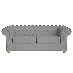 Debenhams - 3 seater tweedy weave 'Chesterfield' sofa bed
