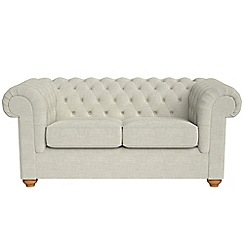 Debenhams - 2 seater brushed cotton 'Chesterfield' sofa