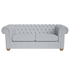 Debenhams - 3 seater brushed cotton 'Chesterfield' sofa bed