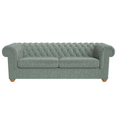 4 Seater Chenille Chesterfield Sofa Bed