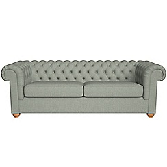 Debenhams - 4 seater textured weave 'Chesterfield' sofa