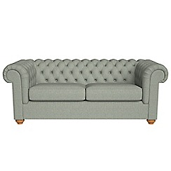 Debenhams - 3 seater textured weave 'Chesterfield' sofa