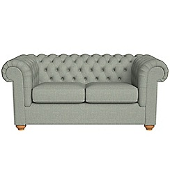 Debenhams - 2 seater textured weave 'Chesterfield' sofa