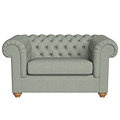 Debenhams - Textured weave 'Chesterfield' loveseat