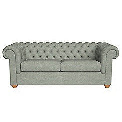 Debenhams - 3 seater textured weave 'Chesterfield' sofa bed