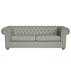 Debenhams - 4 seater textured weave 'Chesterfield' sofa bed