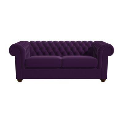 Genial 3 Seater Velvet U0027Chesterfieldu0027 Sofa Bed