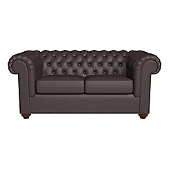 Debenhams - 2 seater luxury leather 'Chesterfield' sofa