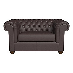 Debenhams - Luxury leather 'Chesterfield' loveseat
