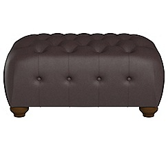 Debenhams - Luxury leather 'Chesterfield' footstool