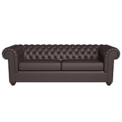 Debenhams - 4 seater luxury leather 'Chesterfield' sofa bed