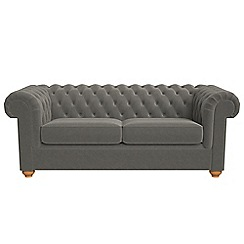 Debenhams - 3 seater natural grain leather 'Chesterfield' sofa