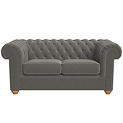 Debenhams - 2 seater natural grain leather 'Chesterfield' sofa