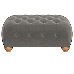 Debenhams - Natural grain leather 'Chesterfield' footstool