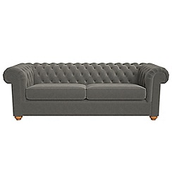 Debenhams - 4 seater natural grain leather 'Chesterfield' sofa bed