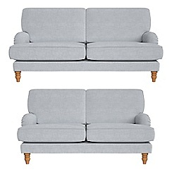 Debenhams - 3 seater and 2 seater brushed cotton 'Eliza' sofas