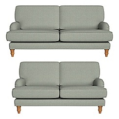 Debenhams - 3 seater and 2 seater textured weave 'Eliza' sofas