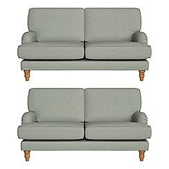 Debenhams - Set of two 2 seater textured weave 'Eliza' sofas