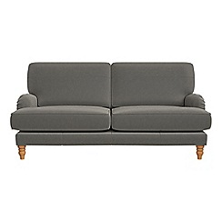 Debenhams - 3 seater natural grain leather 'Eliza' sofa