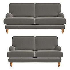 Debenhams - 3 seater and 2 seater natural grain leather 'Eliza' sofas