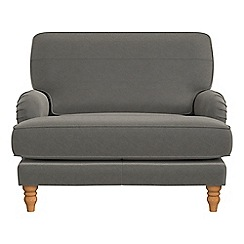 Debenhams - Natural grain leather 'Eliza' loveseat
