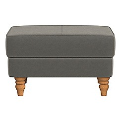 Debenhams - Natural grain leather 'Eliza' footstool