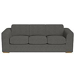 Debenhams - 4 seater tweedy fabric 'Jackson' sofa