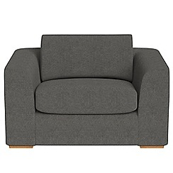 Debenhams - Tweedy fabric 'Jackson' loveseat