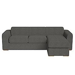 Debenhams - Tweedy fabric 'Jackson' right-hand facing chaise corner sofa