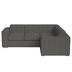 Debenhams - Medium tweedy fabric 'Jackson' right-hand facing corner sofa end