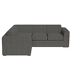 Debenhams - Medium tweedy fabric 'Jackson' left-hand facing corner sofa end