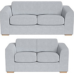 Debenhams - 3 seater and 2 seater brushed cotton 'Jackson' sofas