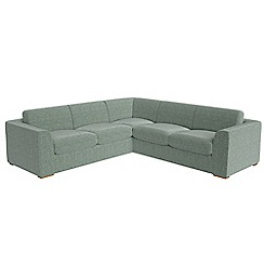 Debenhams - Large chenille 'Jackson' corner sofa