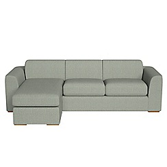 Debenhams - Textured fabric 'Jackson' left-hand facing chaise corner sofa