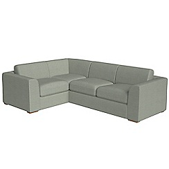 Debenhams - Large textured fabric 'Jackson' left-hand facing corner sofa end