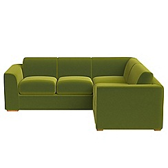 Debenhams - Medium velvet 'Jackson' right-hand facing corner sofa end