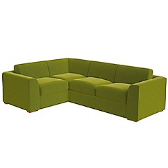 Debenhams - Large velvet 'Jackson' left-hand facing corner sofa end
