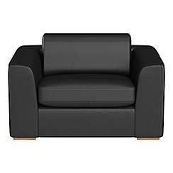 Debenhams - Luxury leather 'Jackson' loveseat