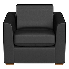 Debenhams   Luxury Leather U0027Jacksonu0027 Armchair
