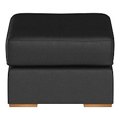 Debenhams - Luxury leather 'Jackson' footstool